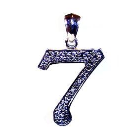 【Luz azul Silver925 ナンバーペンダント No.7】特注Lサイズ  ジルコニア装飾 数字ペンダント