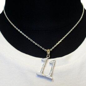 【Luz azul シルバー925 ナンバーネックレス No.11】Silver925 数字ネックレス ジルコニア装飾