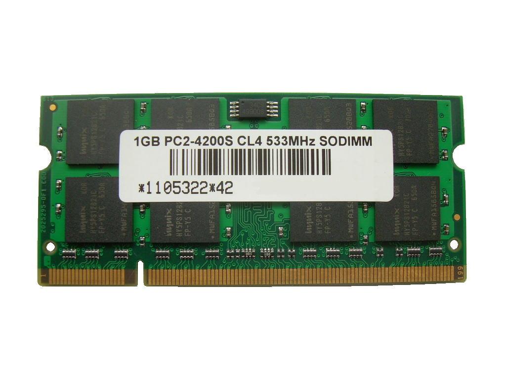 1GB PC2-4200 DDR2 533 200pin SODIMM 16chip搭載品 PCメモリー 【相性保証付】
