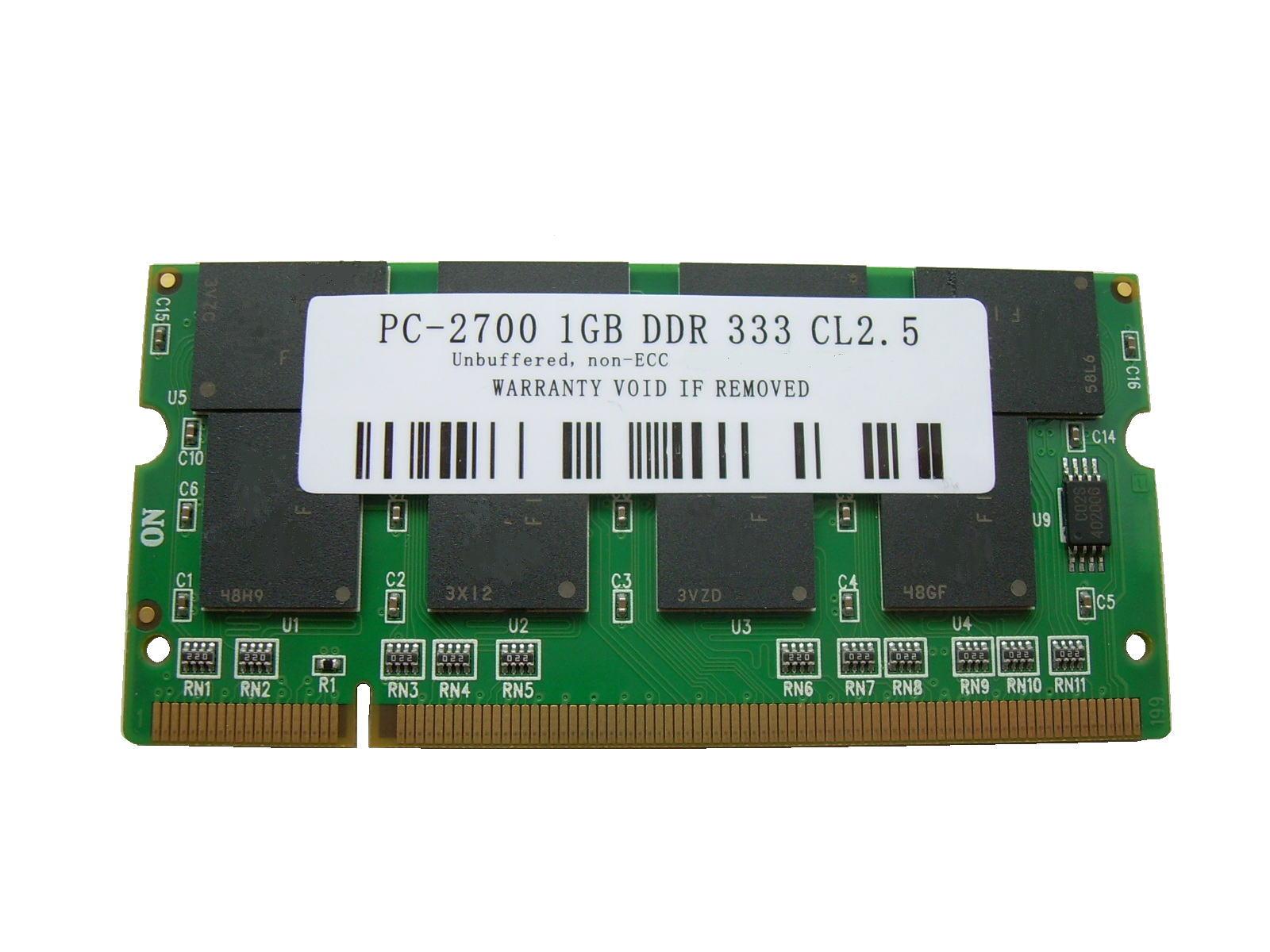 1GB PC2700/PC2100 DDR 333/266 200pin SODIMM PCメモリー 【相性保証付】