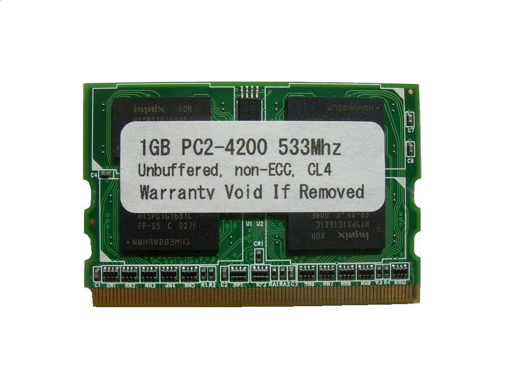 1GB PC2-4200 DDR2 533 172pin MicroDIMM PCメモリー 【相性保証付】 Panasonic Let's note/Fujitsu loox 対応