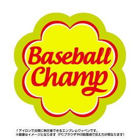 野球 Baseballチャンプワッペン(部活/POP/お菓子/エンブレム/アイロン/キャンディー/スポーツ)