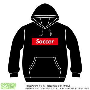 サッカーパーカー(Soccer)ストリート系BOXロゴデザインのプルオーバースウェット