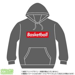 バスケットボールパーカー(basketball)ストリート系BOXロゴデザインのプルオーバースウェット