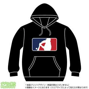 野球パーカー(baseball)MLBロゴ風プルオーバースウェット