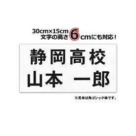 バドミントン用ゼッケン(W30cm×H15cm)