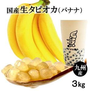 タピオカ バナナ味【国産生タピオカ】3kg 業務用