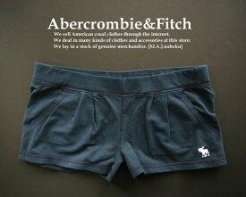 3868新品★アバクロンビー&フィッチ Abercrombie&Fitch★ホットトレ短パン★紺★L★WOMENS