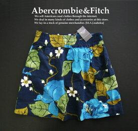 4209新品★アバクロンビー&フィッチ Abercrombie&Fitch★デザイン花柄スカート★紺系★XS★WOMENS