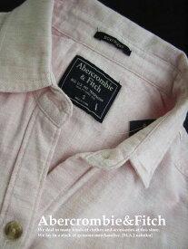 4864新品★アバクロンビー&フィッチ Abercrombie&Fitch★胸ロゴシャツ2803★ライトピンク★S★WOMENS