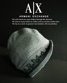 6320新品★アルマーニエクスチェンジ ARMANI EXCHANGE★A Xリバーシブルロゴニット帽★グレー系★MENS★メンズ