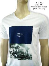 8065新品★アルマーニエクスチェンジ ARMANI EXCHANGE★デザイン刺繍ロゴTシャツ2835★白★XXL★MENS★大きいサイズ