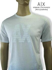 8091新品★アルマーニエクスチェンジ ARMANI EXCHANGE★デザイン白ロゴTシャツ2851★白★XXL★MENS★大きいサイズ