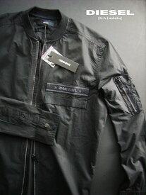 7322新品★ディーゼル DIESEL★ロゴジップシャツ2912★黒★S★MENS★