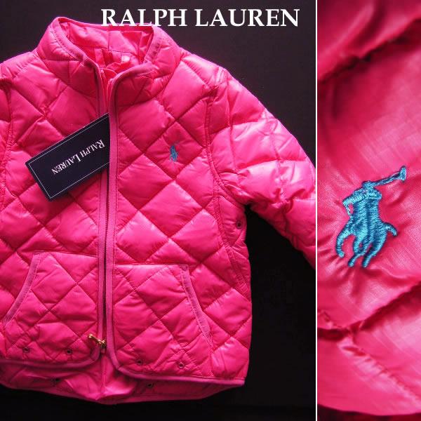 1332新品★ラルフローレン RALPH LAUREN★ダウンジャケット★ピンク★12M(80)★女の子・子供服