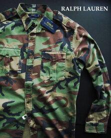 1477新品★ラルフローレン RALPH LAUREN★迷彩シャツジャケット★カーキ系★XL★MENS★