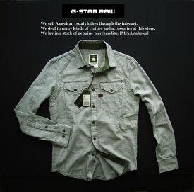 4311-2新品★ジースター G-STAR RAW★デザインシャツ2323★カーキ系★MENS★