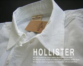 2319-24新品★ホリスター HOLLISTER★胸ロゴワンポイントシャツ★白★WOMENS★