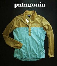 6684新品★パタゴニア patagonia★フーディニプルオーバー Houdini P/O 107★ベージュ水色 Rattan★WOMENS★