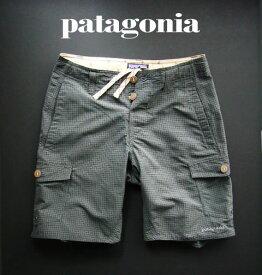 6689-90新品★パタゴニア patagonia★チェック短パン 112★グレー★MENS★