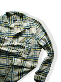6938新品★パタゴニア patagonia★フィヨルド フランネル チェックシャツ★ベージュグレー系青★MENS★大きいサイズ