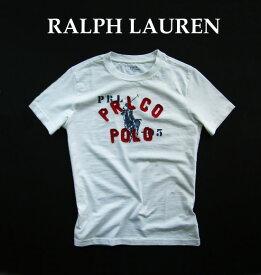 3348-51新品★ラルフローレン RALPH LAUREN★BIGロゴアップリケTシャツ2614★白★子供服