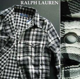 3232-6新品★ラルフローレン RALPH LAUREN★チェックシャツ★白黒★WOMENS★