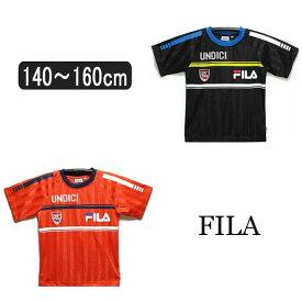 男の子 半袖 Tシャツ D1600 フィラ 半袖Tシャツ 05黒 15オレンジ 140cm 150cm 160cm FILA 子供服 こども 男の子 キッズ ジュニア 半袖 ra-k yob1804 su309