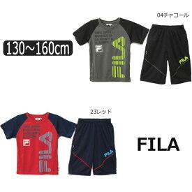 3b4e22acf3810 FILA 半袖 Tシャツ ハーフパンツ ジャージ 上下セット 130cm 140cm 150cm 160cm 04チャコール 23