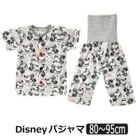 男の子 ミッキー 腹巻き付き 半袖 前開き パジャマ 80cm 90cm 95cm 05ミッキー 331102712 Disney ディズニー 子供服 キッズ ベビー 赤ちゃん 上下セット ナイトウェア キャラクター 2k5