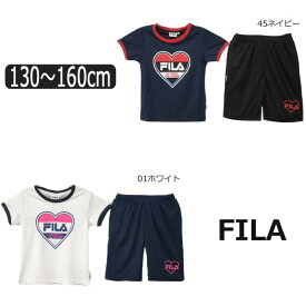 8d421fdb1bfd07 FILA 半袖 Tシャツ ハーフパンツ ジャージ 上下セット 130cm 140cm 150cm 160cm 01ホワイト 45