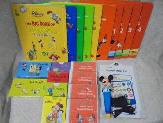 e1575 DWE 디즈니 영어 시스템 월드 패밀리 미키 매직 펜 세트 유아 영어 교재
