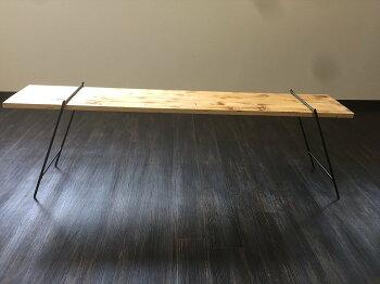 マメてりあアイアンレッグBBQテーブルキャンプテーブルディスプレイラック