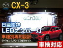 ナンバー灯 LED 日亜 雷神 CX-3 CX3