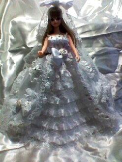豪華手工製作娃娃衣服 J 婚紗