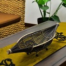 リディの船形バスケット【バリ島直輸入バリ雑貨アジアン雑貨彫刻エスニックお土産アジアンインテリアトレイ】