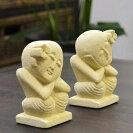 パラスストーンのバリニーズ人形type:A2体セット/パラス石/アジアン彫刻/バリ彫刻/インドネシア/バリ雑貨/カービング/彫刻/バリ島のオブジェ/アジアン雑貨