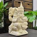 石像の置物 ガネーシャ 高さ35Cm 【バリ島直輸入パラス石 パラスストーン バリ雑貨 アジアン雑貨 ガーデニング】