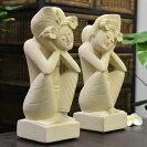 バリ島のパラスストーンのバリニーズカップル人形【高さ30Cm】石像/パラス石/バリ雑貨/置物/アジアン雑貨