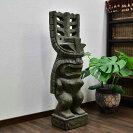 ティキの石像グリーンストーン高さ100Cm【バリ島直輸入アジアン雑貨バリ雑貨インドネシアガーデニング神様魔よけエクステリアTIKIハワイアンポリネシア】
