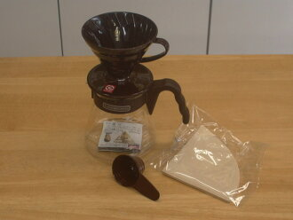 Hario V60 coffee Server 02 set (Brown)