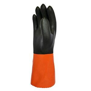 まとめ買い!10セット ソフトボアツートン Mサイズ 5双 一重防寒手袋 作業用グローブ ポリ塩化ビニール手袋