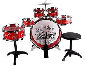 子供用ミニドラムセット 赤 【中身の見えないダンボール発送】 おもちゃドラムセット 子供用ドラムセット