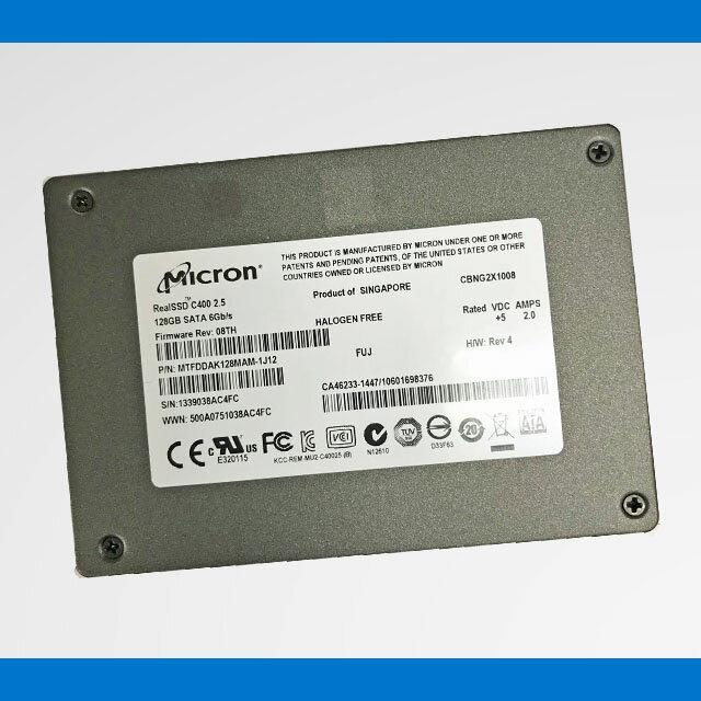 Micron SSD 128GB C400-MTFDDAK128MAM【中古】 マイクロン 中古SSD RealSSD C400 SATA 2.5インチ 内蔵ストレージ 送料無料(メール便)