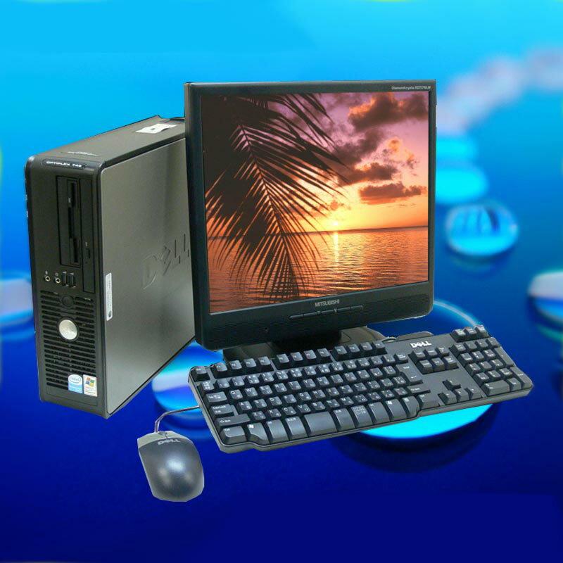 中古パソコン 無料アップグレード DELL OPTIPLEX 780または380シリーズ19インチワイド液晶モニター付き【中古】 Core2Duo 2.93GHz メモリー4GB HDD:160GB⇒250GB DVDマルチ搭載Windows7-Pro セットアップ済み KingSoft Office付き【中古パソコン】◎