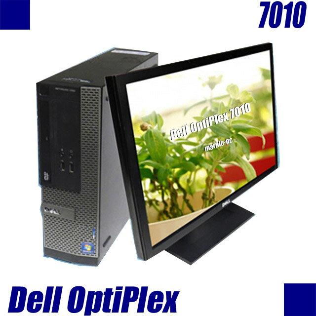中古パソコン Dell OptiPlex 7010 【中古】【推】 液晶23インチモニター付き 中古デスクトップパソコン Windows10 コアi5 3.2GHz メモリ8GB HDD500GB DVDスーパーマルチ内蔵 WPS Officeインストール済み 中古パソコン 液晶ディスプレイセット