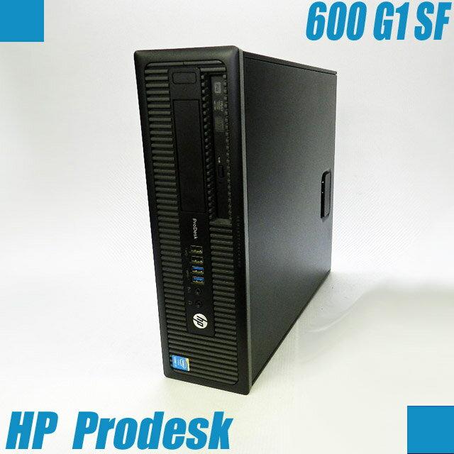 HP Prodesk 600 G1 SF【中古】 コアi7-4790(3.60GHz)第四世代最高峰モデル Windows10セットアップ済み メモリ16GB HDD1TB DVDスーパーマルチドライブ内蔵 中古デスクトップパソコン WPS Office付き 中古パソコン