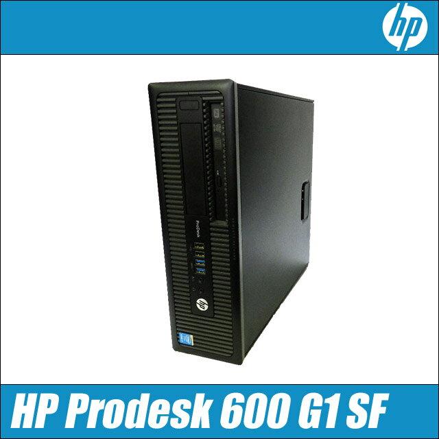 中古パソコン Windows10セットアップ済み 中古デスクトップパソコン HP Prodesk 600 G1 SFF【中古】 コアi7-4790:3.60GHz メモリ:8GB HDD:1TB DVDスーパーマルチドライブ搭載 WPS Office付き【送料無料】