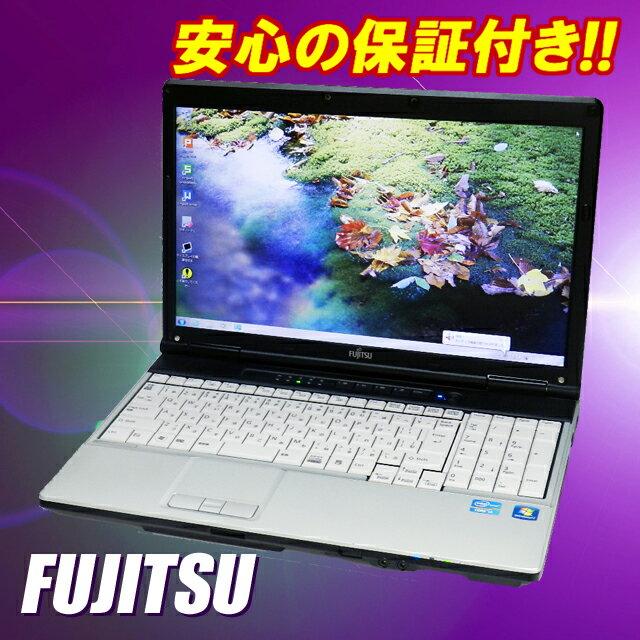 中古パソコン 富士通 LIFEBOOK E741【中古】 Windows10セットアップ済み 液晶15.6型ワイド Core i7-2640M:2.80GHz メモリ4GB HDD250GB WPS Office付き