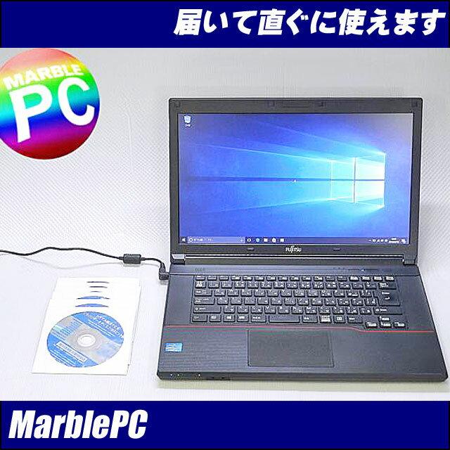 中古パソコン 富士通 LIFEBOOK A573G/Corei5-3340M 2.7GHz/MEM4G/HDD320G/DVDマルチ/WLAN/Bluetooth/Win10Pro-32bit/Win7&Win8リカバリディスク付/難あり【中古】